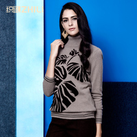 2017 women's cashmere turtleneck pullover knitted sweater mother clothing cashmere basic sweater