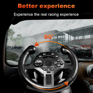 Image 3 - RETROMAX Racing Steering Wheel With Accelerator For PC/PS3 High Rolling Sense Driving Steering Wheel For Computer/PlayStation3