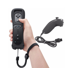 2 in 1 Wireless Remote Controller Joypad With Nunchuk Control For Nintendo Wii Built in Motion Plus For Wii U Gamepads Joystick