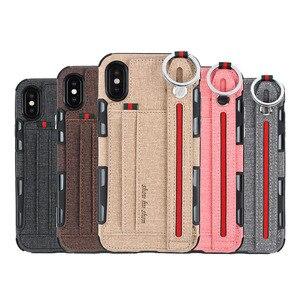 Image 2 - כבד החובה הגנת טלפון מקרה עבור iphone xs max xr 8 7 6 5 6S בתוספת אנטי שריטה ארנק caseCard כיס אצבע טבעת כיסוי