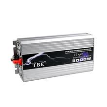 TBE 3000 Вт USB DC12V/24 В/48 В к AC 220 В Чистая синусоида Инвертор автомобильные электронные аксессуары 3000 Вт Пиковая мощность 6000 Вт Солнечный инвертор