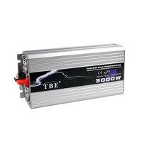 TBE 3000W USB DC12V/24V/48V To AC 220V Pure Sine Wave Inverter Car Electronic Accessories 3000W Peak Power 6000W Solar Inverter