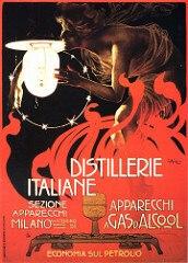 Cartel publicitario Vintage destilería italiana, 1899 pinturas en lienzo clásicas, carteles de pared, pegatinas, decoración para el hogar, regalo