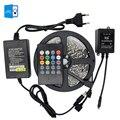 [DBF]5M 300led RGB SMD3528 no-waterproof strip +12V 2A power adapter +music sensor IR controller 85-265v US/EU plug Super Bright