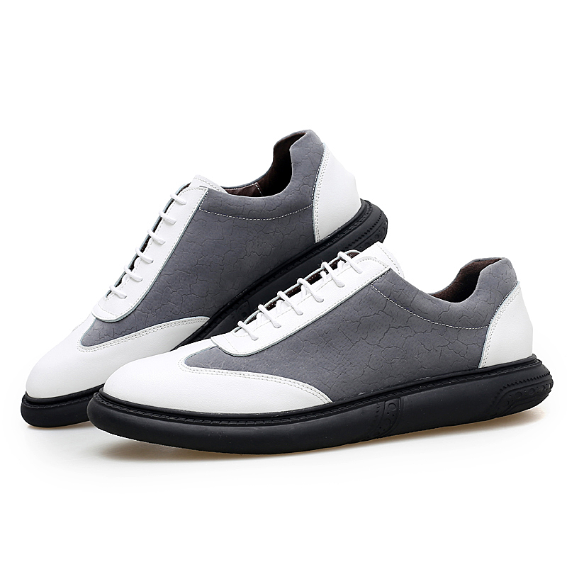 New Mens Casual board Shoes Genuine Leather Breathable Male walking driving print men Fashion Sneakers Flats shoe 11816 RAPQUE