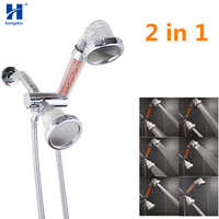 Hongdec White 3 Spray 2 in 1 top Shower High Pressure Ionic Filter Hand Shower set
