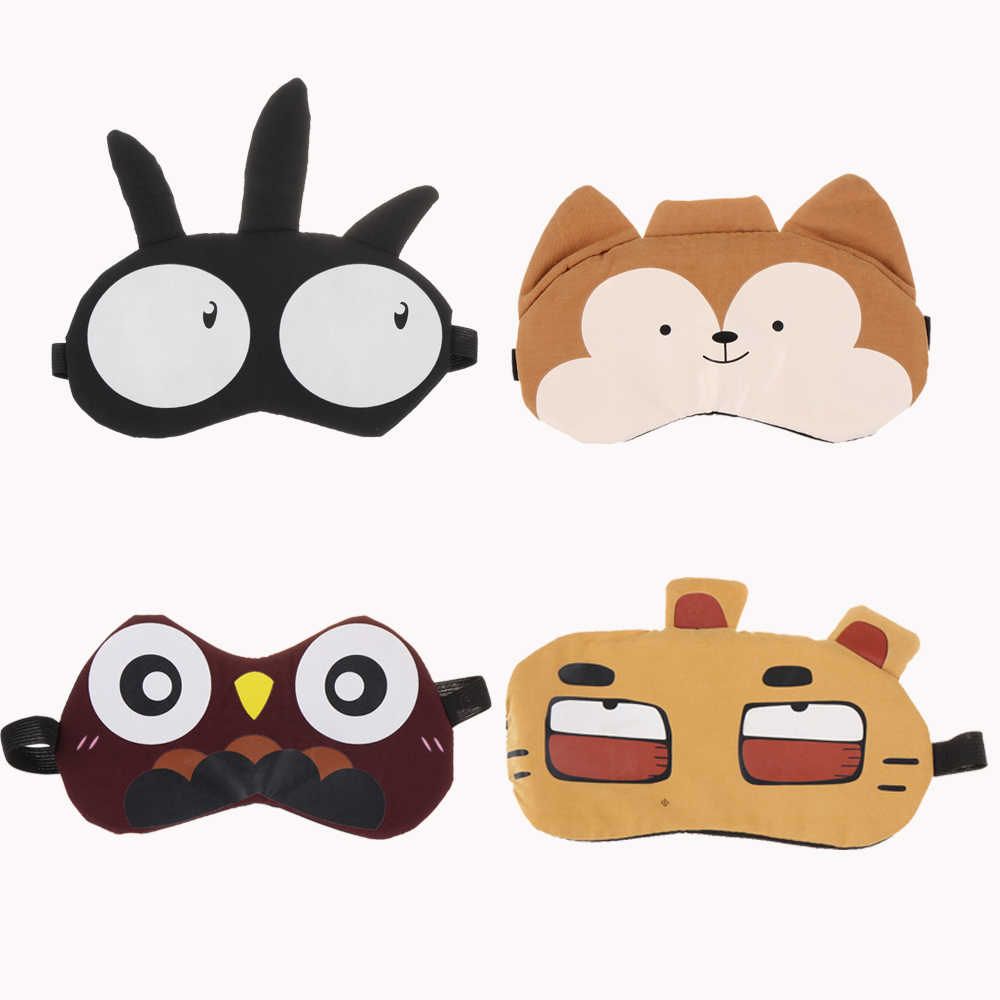 น่ารัก 3D Sleep Mask Natural Sleeping Eye Mask Eyeshade Cover Shade Eye Patch ผู้หญิงผู้ชายนุ่มแบบพกพา Blindfold Travel Eyepatch