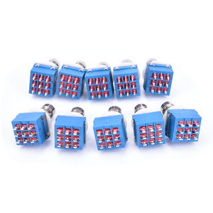 10Pcs 9-pin 3PDT Chitarra Effetti A Pedale Stomp Box Piede In Metallo Interruttore True Bypass(China)