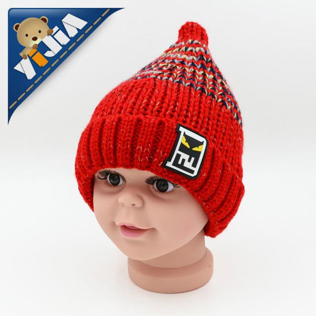 2016 nueva manera del bebé de punto de algodón sombrero niña niño caliente cabeza caps niños beanie sombreros niño caps recién nacido sombrero R255