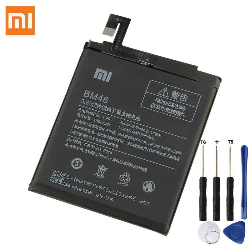 XaioMi Original Battery BM46 For Xiaomi Redmi Note 3 Pro Redrice Note3 100 New Authentic font