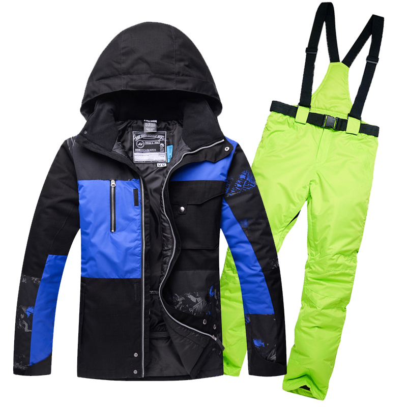 2018 Ski Suit Set Man Jackets Outdoor Sports Snowboarding Suit Clothing Waterproof Windproof -30 Warm Costume Jacket + Pant woman snow jacket outdoor sports ski suit set waterproof windproof 30 warm snowboarding jacket pant ski suit set winter coat