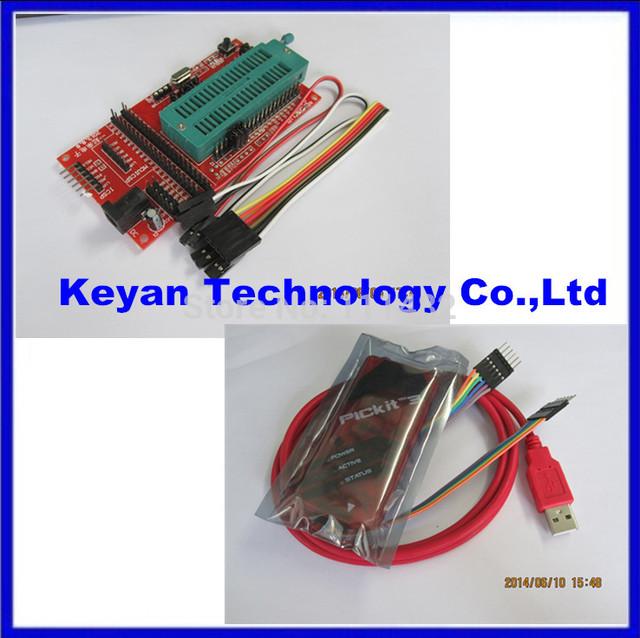 Programação pickit3/emulador + microcontrolador PIC da placa de sistema mínimo//placa de desenvolvimento/assento programador universal