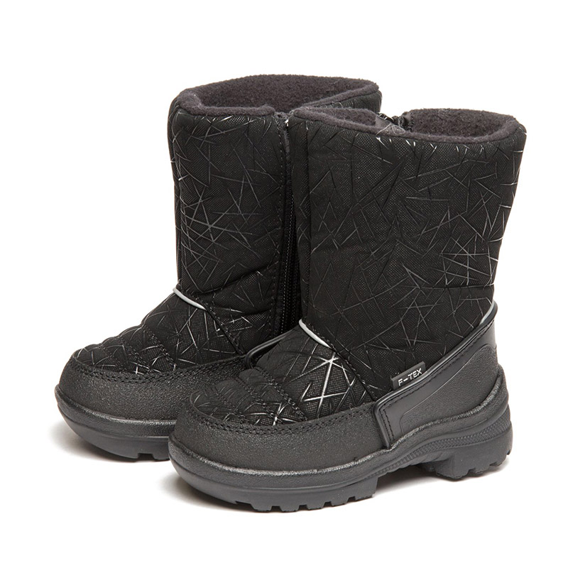 FLAMINGO Winter Fashion Waterproof Wool Keep Warm Kids Shoes Anti-slip Orthotic Arch Size 23-28 Snow Boots for Girl 82M-QK-0945