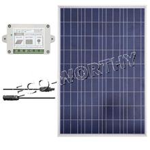 100 Watt Solar Panel Bundle Kit 100W W/ controller Off Grid 12V RV Boat Home