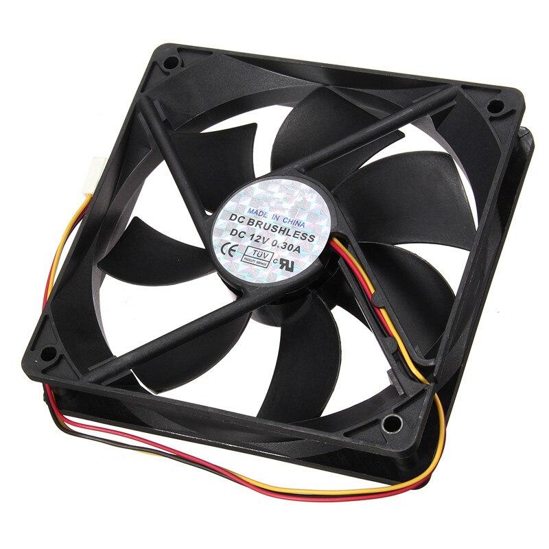 120mmx120mmx25mm CPU Radiator 12V 3Pin Cooling Fan Silent Computer Desktop CPU Cooler Small Cooling Fan PC Black Heat Sink 3 pin 90mm 25mm cooler fan heatsink cooling radiator for computer pc cpu 12v