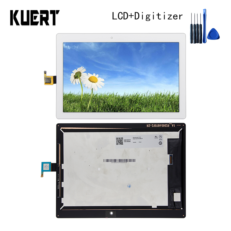 Panel LCD Combo Touch Screen Digitizer Glass LCD Display Assembly  For  Lenovo Tab 2 A10-30  Accessories Parts  Free Tools lcd screen display digitizer touch panel glass assembly for huawei honor 3c 100% original new white black tools free 3pcs lot