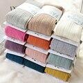 Medias caliente de Invierno Lleno de Algodón Vertical Patrón Colores Del Caramelo Térmica Medias De Vestir para la Primavera de Invierno 2016