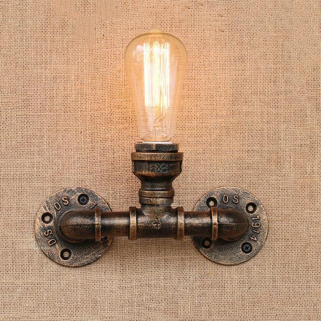 Vintage Iron water pipe light Retro Loft wall lamp bedroom living room restaurant stair corridor bar club pub cafe lamp bra