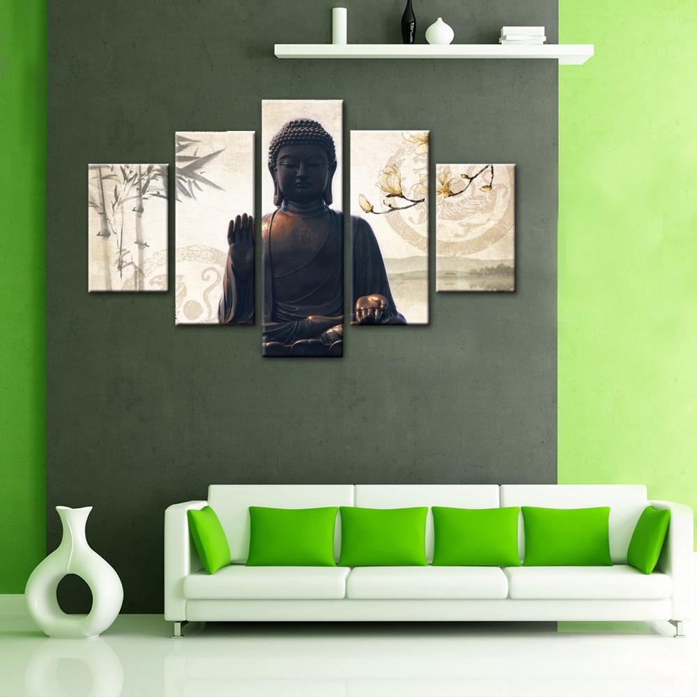 5-Piece-Canvas-Wall-font-b-Painting-b-font-font-b-Buddha-b-font-font-b
