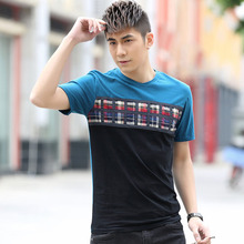 Plus size 3XL 4XL 5XL 6XL 7XL 8XL 9XL (bust 146cm) Men's T -shirt large yards summer short-sleeved shirt TX703