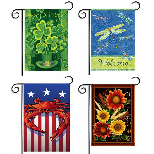 garden banners. Flowers And Birds Garden Flag Hot Welcome Banners Beautiful Butterfly Dragonfly Banner Home Decoration