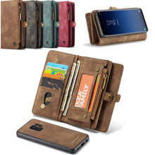 Retro Leather Folio Wallet Bag Zipper Case for Huawei Mate 20 Pro Luxury Fundas Cover for Huawei P20 Pro Lite Magnetic Back Case(China)