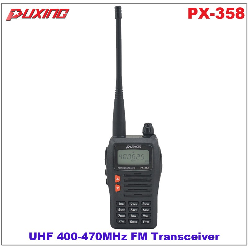 US $70 0 |Hot Sale Walkie Talkie Puxing PX 358 UHF 400 470MHz Portable Two  way Radio FM Transceiver-in Walkie Talkie from Cellphones &