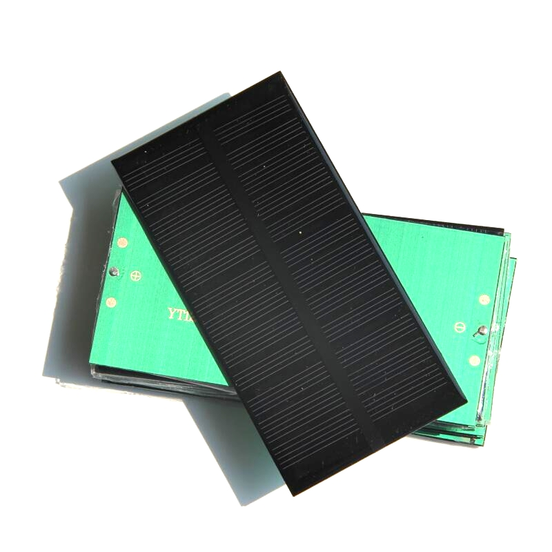 Wholesale 50PCS/Lot 1W 6V Mini Solar Cell DIY Solar Toys Monocrystalline Solar Panel Education Kits 125*63*3MM Free Shipping