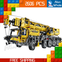 2606pcs 2in1 Technic Mobile Crane MK II Container Stacker 20004 Figure Building Blocks Toys Machine Compatible with LegoING