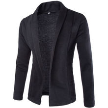 2017 New Fashion Stylish Jacket Men Casual Slim Fit Coats Black White Grey Outwear One Button Suit Coat Jackets Top