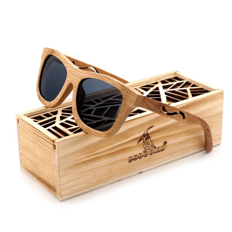 435c18b6c03 BOBO BIRD Polar Sun glasses Men Vintage Handmade Bamboo Sunglasses Women  Retro Eyewear with Gift Oculos