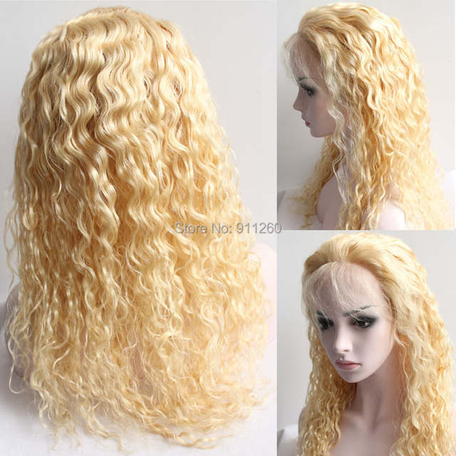 17A Top Quality #17 Pure Blonde Hair Color Brazilian virgin hair ...