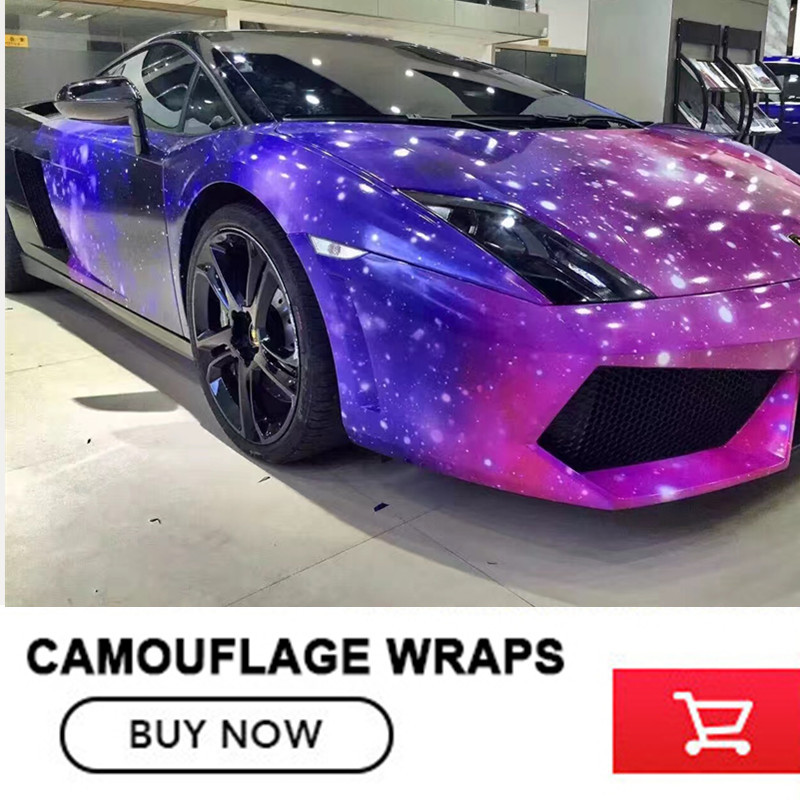 Camouflage Glossy Wrapping Galaxy Starry Sky Wrap Vinyl