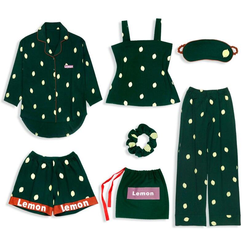 Yidanna 2019 Women Pajamas Set Casual Nightwear Sleep Clothing Long Sleeve Cotton Female Nighties Sleepwear Autumn Winter Pyjama