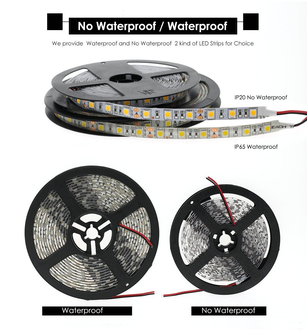 Black Pcb Led Strip 5050 Dc12v Ip65 Waterproof 60led M 5m Lot White Adafruit Neopixel Digital Rgb 60 Id Warm Red Green Blue