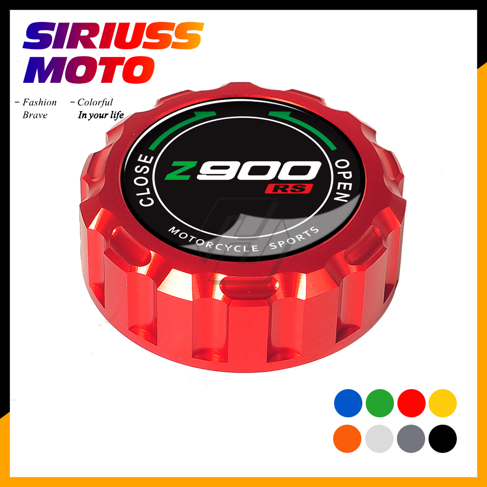 Aluminum Motorcycle Rear Brake Fluid Reservoir Cap Case for <font><b>Kawasaki</b></font> <font><b>Z900RS</b></font> From 2017 image