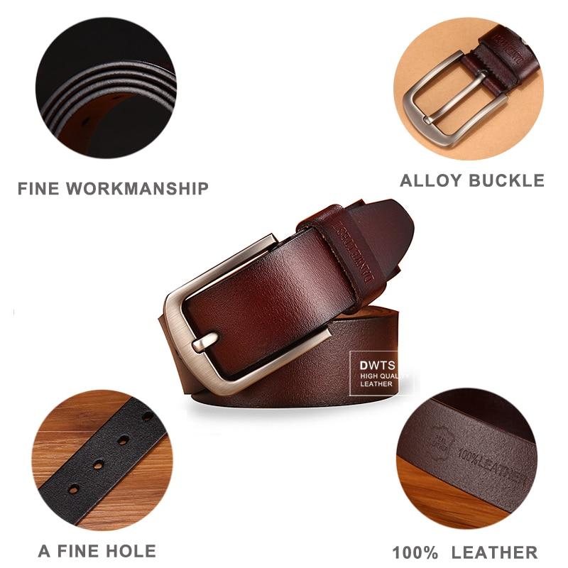 [DWTS]men's belt leather belt men male genuine leather strap luxury pin buckle fancy vintage jeans cintos masculinos 1