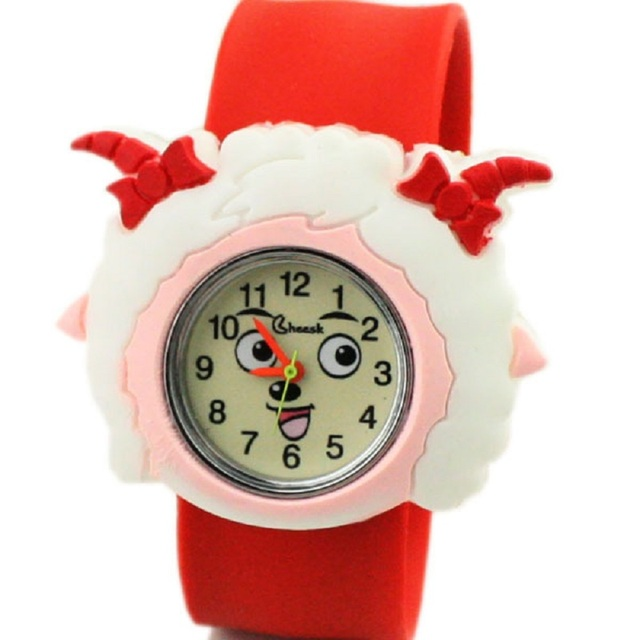 2018 new hot cake cute sheep pattern student birthday gift silicone watch cartoon Q version Pleasant Goat children pat table