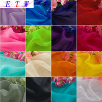 Hot Selling Chiffon Fabric Georgette Fabric Solid Color Linen Cloth 2 Meters Lot 150cm Width 20