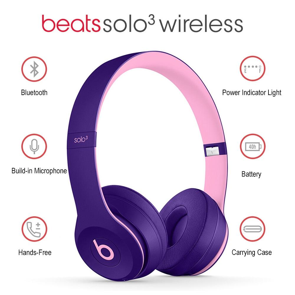 Image 5 - Beats by dre Solo3 Wireless Bluetooth Headphone On Ear Earphones Gaming Headset Music Hands free Earphone Solo 3  with Mic foneBluetooth Earphones & Headphones   -
