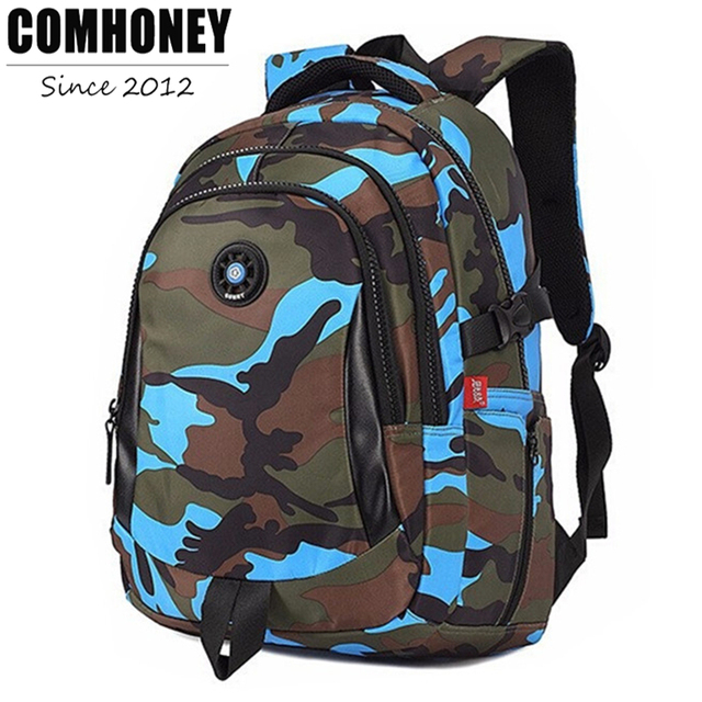 Camouflage School Backpacks for Boys Girls Children School Bags ...