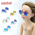 Papabasi Round glasses colorful sunglasses suitable for 1/6 BJD blyth Fit 43cm 16inch dolls + mix free Retail packaging
