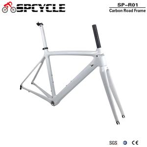 Image 3 - Spcycle T1000 كامل الكربون الطريق إطار دراجة هوائية 700C الطريق دراجة الكربون الإطار BSA 68 مللي متر OEM سباق دراجة إطارات 50/53/55 سنتيمتر