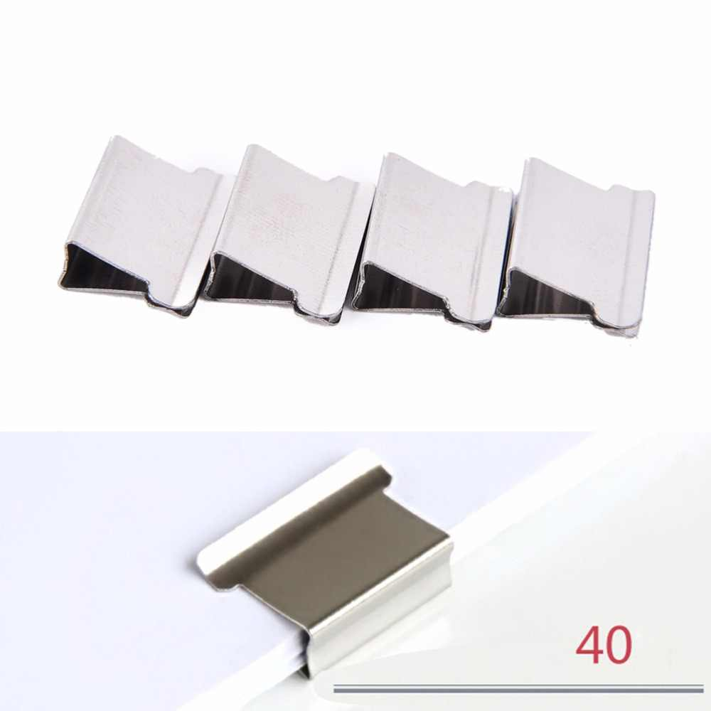 50 יח'\אריזה בית ספר משרד אביזרי אספקת מיני מתכת נייר גוזז מכתבים