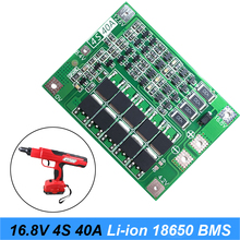 цена на 10PCS 4S 40A Li-ion Lithium Battery 18650 Charger PCB BMS Protection Board with Balance For Screwdriver 16.8V Lipo Cell Module