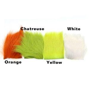 Wifreo 1 шт. 6x6 см материал для завязывания летучей мыши с парашютом мини-прищепка для джигса стример для завязывания меховая нашивка зеленый желтый оранжевый белый цвет