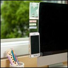 Экран дисплея компьютера стикер Акриловый Клей липкие заметки с зарядным отверстием держатель телефона Закладка сообщение заметки доска