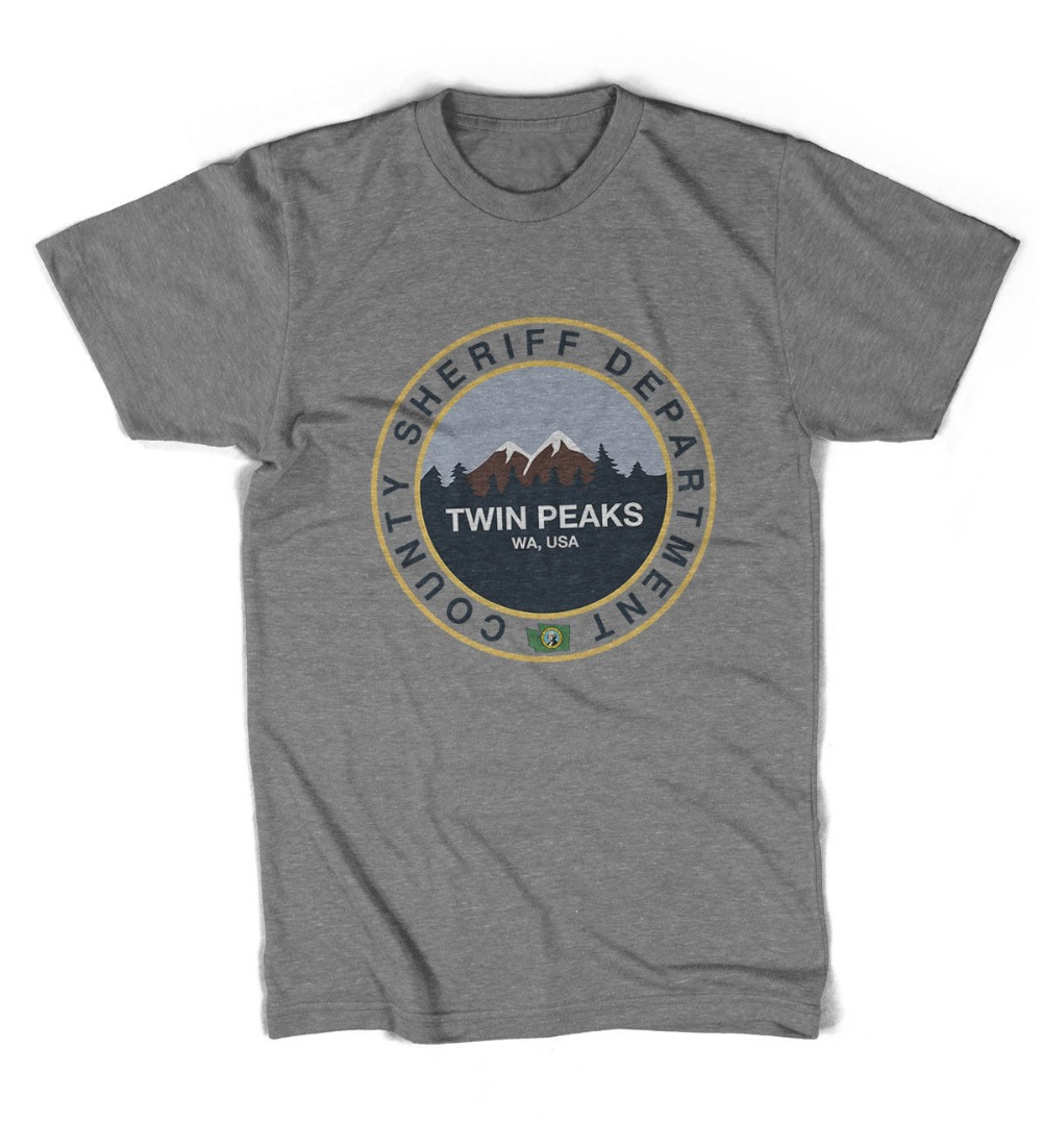 2019 New Arrival Men'S Fashion Twin Peaks County Sheriff Department Unisex T-Shirt All Sizes Tee Shirt Design