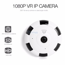 New 2.0MP 1080P 360 Degree Panoramic IP Camera Home Surveillance Full View Network CCTV Security Camera IR Night Vision V380