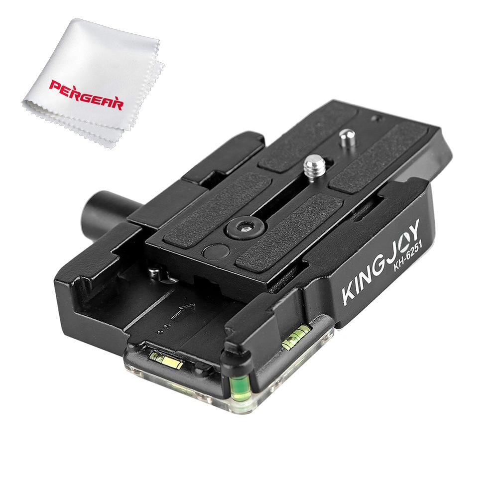 KINGJOY KH-6251 Portable En Aluminium Caméra Trépied Plateau Rapide Adaptateur avec 1/4 et 3/8 vis pour Manfrotto 501HDV REFLEX NUMÉRIQUE
